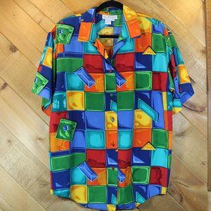 Vintage Westbound Candy Crush Button Up Shirt Lg